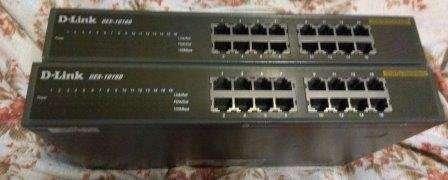 Продам неуправляемый коммутатор D-Link DES-1016D