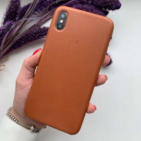 Кожаный чехол айфон leather case original for iphone