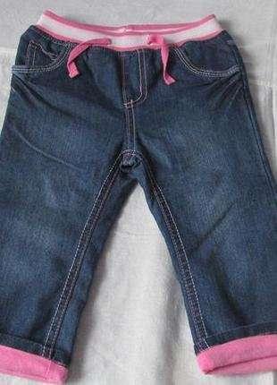 Нові дитячі джинси-бріджі для дівчинки (1-3 роки)Smile, розмір 86,