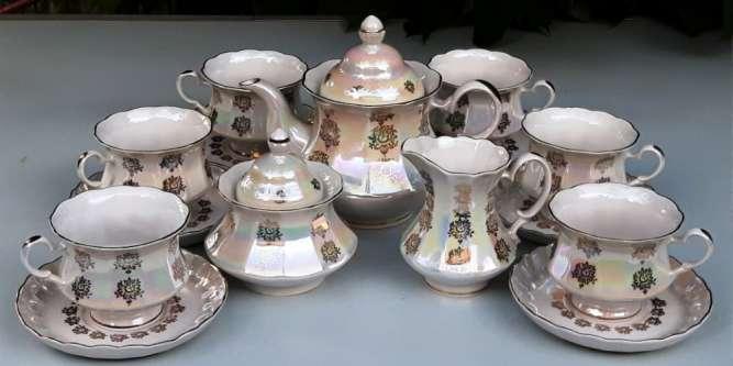 Фарфоровый чайный сервиз на 6 персон Коростенского завода