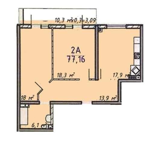 Предлагаем к продаже 2-х комнатную квартиру в Суворовском - зображення 2