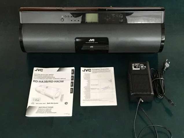 Магнитола JVC RD-HA3B полный комплект, идеальное состояние