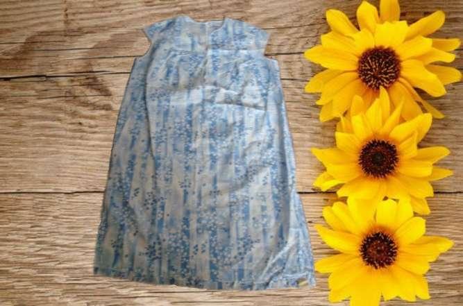 Летняя хлопковая ночная рубашка ночнушка женская принт ландыши