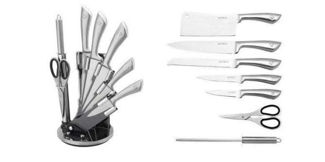 Набор металлических ножей на подставке Royalty Line RL-KSS600