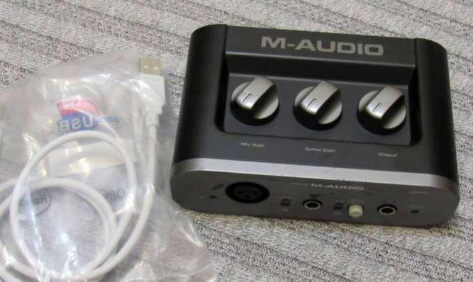 Звуковая карта M-Audio FAST TRACK MKII аудио интерфейс