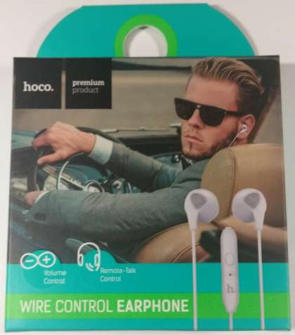 Наушники Hoco M2 Wire Control Earphone White (Белый)