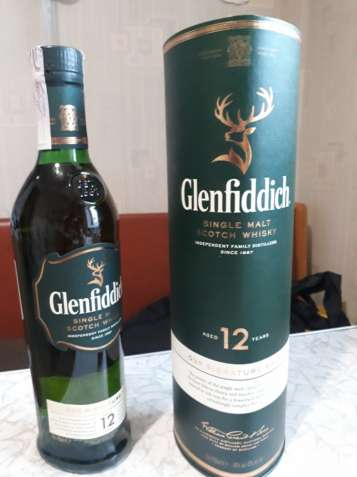 Виски Гленфиддик 12 лет (whisky Glenfiddich 12 y)