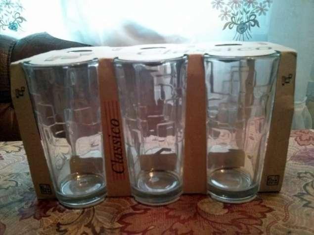 Набор стаканов 200 мл, высокие, 6 шт, стекло