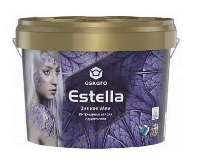 Краска одного слоя Eskaro Estella (9 л.) Акционная цена!