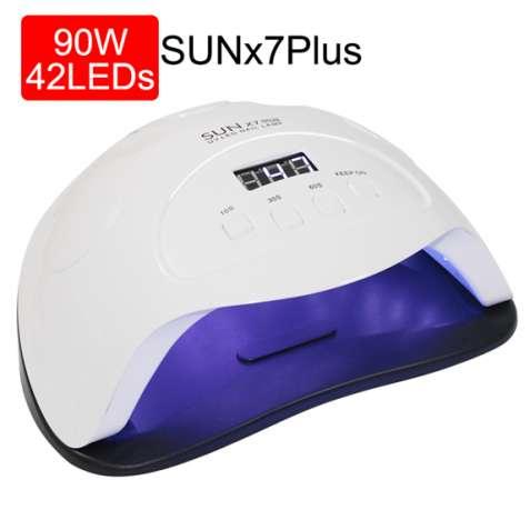 Лампа для сушки гель лака для ногтей Sun X7 Plus