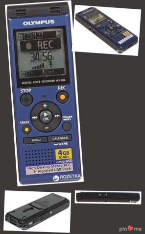 Olympus WS-806 4GB Blue + ME51 Stereo Microphone (V415151UE020)