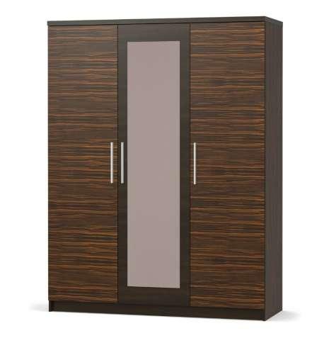 Трехдверный шкаф Вероника (Макасар). Мебель со склада по оптовым ценам