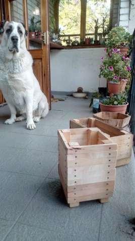 Ящик-кашпо-вазон для цветов. Дуб, ольха. Ручная работа.