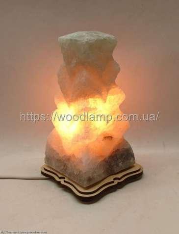 Соляной светильник Елка Б резная, лампа, ночник