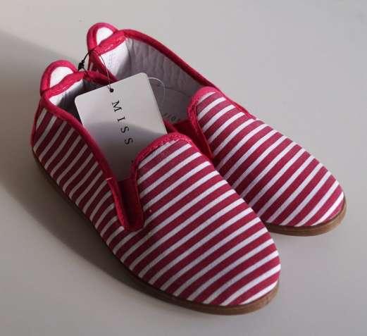 Туфли текстильные Miss Fiori в полоску