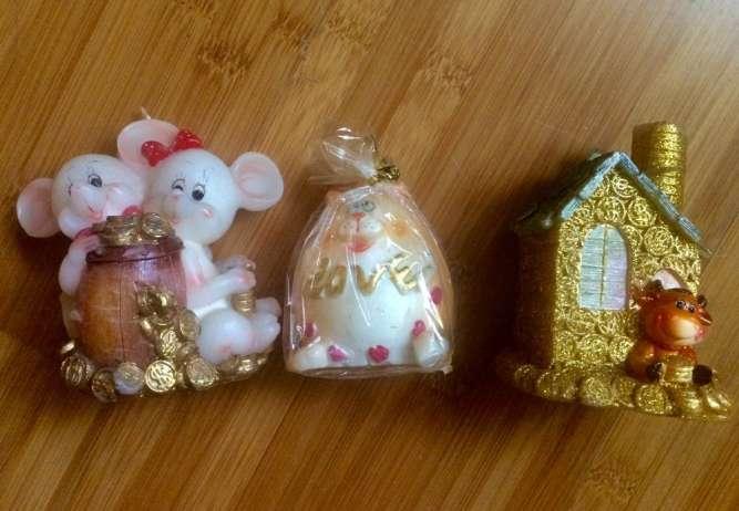 Продам свечи сувенирные Мышки на подарки и для дома. Символ 2020 года