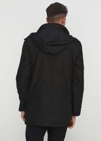 """Куртка """"C.Comberti"""" удлиненная черная - зображення 2"""