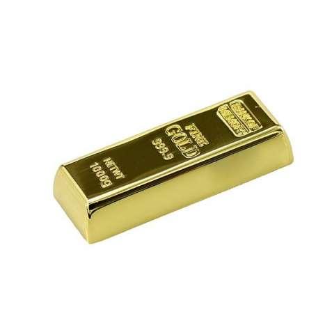 USB флешка Loveheek золотой слиток 16GB