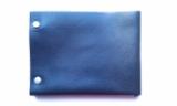 Мужской кошелек портмоне из натуральной кожи черный тонкий ручная работа. KAG Leather