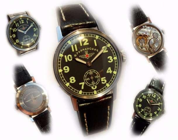 «ШТУРМАНСКИЕ _ПОБЕДА» НОВЫЕ! механика СССР 50-х., мужские часы, хомаж
