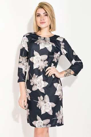 Платье (полубатал) с цветочным принтом 72PD132