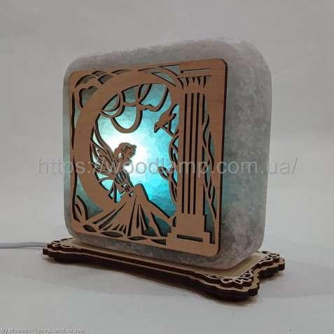Соляной светильник квадратный Фея, соляная лампа, ночник