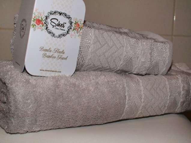 Бамбуковые полотенца набор бамбук Sikel, махровое. Турция
