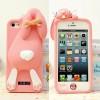 Силиконовый чехол Moschino Violetta Rabbit светло розовый для iPhone 5/5s
