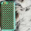 Чехол пластиковый Шипы Бирюза + bronze для IPhone 6/6s