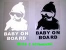 """Наклейка на авто Ребенок в машине """"Baby on board""""светоотражающая"""