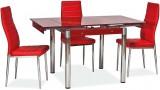 Стеклянный стол ТВ21 для кухни, раскладной