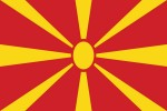 Флаг Македонии/македонский 150*90 см, прапор Македонії, країни світу
