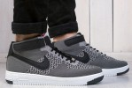 Кроссовки nike air force flyknit  Gray title=
