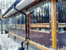 Мягкие окна из тентовой прозрачной ПВХ пленки.