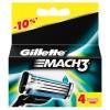Gillette Mach3  4 картриджа в упаковке title=