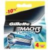 Gillette Mach3 Turbo 4 картриджа в упаковке title=