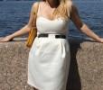 Белое,нежное платье oodji