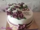 Праздничный торт для любимой жены и мамы с розами