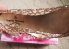 ажурные балетки мыльницы с блестками 40 копия Westwood