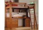 """Кровать-чердак подростковая """"Карстронг"""" (массив ольхи)"""