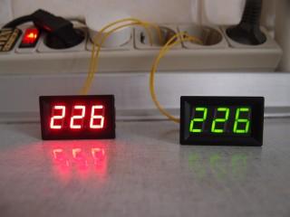 Цифровой вольтметр сети переменного тока 220 в title=