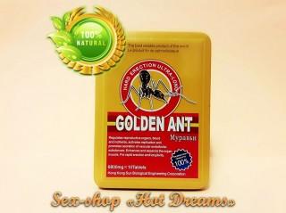 Эффективный препарат Gold Ant продлевает время полового акта(упаковка) title=