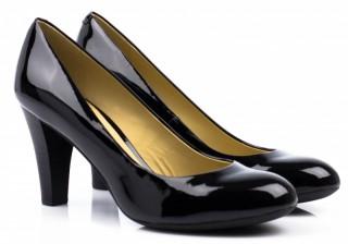 Кожаные лакированные туфли geox mariec title=