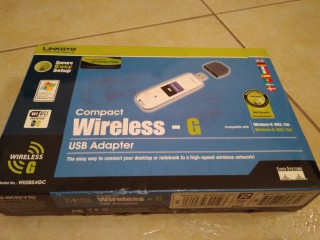 USB Adapter Linksys Compact Wireless-G WUSB54GC  title=