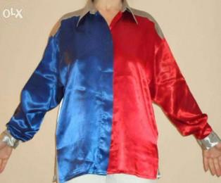 Интересная блуза. Атлас. Размер 48-50