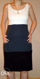 Милое платье из плотного трикотажа-. PROMOD , р. 46.
