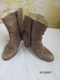 Кожаные сапоги,ботинки p.i.u.r.e. осенние.38. title=