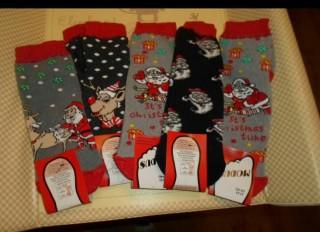 Новорічні шкарпетки  title=