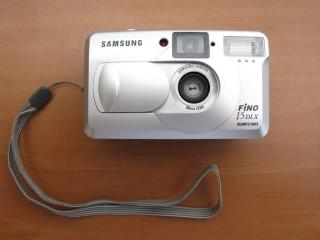 Фотоаппарат пленочный SAMSUNG FINO 15 DLX QD .  Печать даты. Чехол. title=