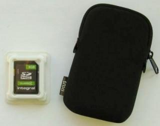 Чехол для фотоаппаратов Canon Ixus + карта памяти Integral SDHC 8 GB.  title=